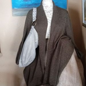 WD.NY. Petite Olive Green Sweater/Wrap